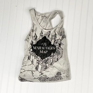 Harry Potter marauders map tank top